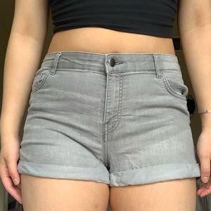 H&M Gray Denim Shorts